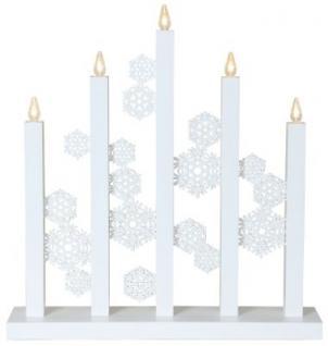 LED-Leuchter Holz Snowfall weiß 5 BS