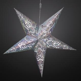 LED-Weihnachtsstern, Durchmesser 60 cm, warmweiß/silber