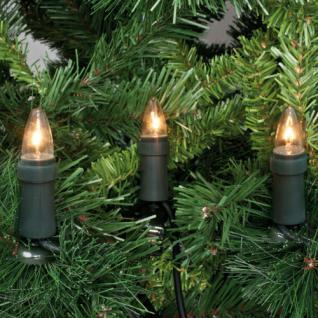 Weihnachtsbaumkette, klar/grün, 15 x E10/16V/3W, mit teilbarem Stecker, IP44