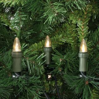 LED-Weihnachtsbaumkette, klar/grün, 15 x E10/3V/0, 1W, mit teilbarem Stecker, IP44 - Vorschau 1
