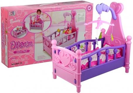 Puppenbett mit Bettzeug und kleinem Spielzeug 3+ Spielzeug für Kind