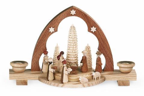 Müller-Kleinkunst aus dem Erzgebirge® seit 1899 Schwibbogen Christi Geburt