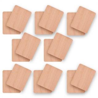 16 x Syntrox Holz Untersetzer für Raclette Pfännchen