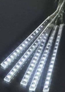 Hellum LED-Schneefall Stäbe, Lichterkette, Basis-Set 5tlg. weiss aussen