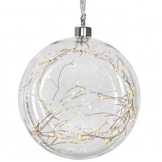 Glaskugel, 80 warmweiße LEDs, GLOW