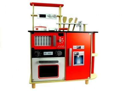 Holzküche mit umfangreichem Zubehör Set