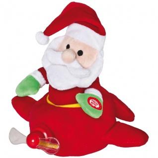 Weihnachtsmann im Flugzeug, H 22 cm, mit Bewegung und Musik