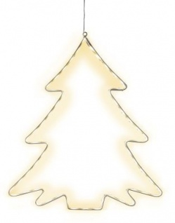 STAR Trading LED-Silhouette ''Lumiwall'' Baum 60 BS ww außen