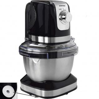 Syntrox Germany Küchenmaschine Knetmaschine Edelstahl-Behälter, 4 Liter, schwarz - Vorschau 2