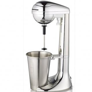 Syntrox Elektrischer Milchshaker - Milchshake-Maker - Drink-Mixer - Barmixer - Eiweiß-Mixer - Cocktail-Mixer bis zu 22000 U/Min, 2 Stufen, mit Edelstahl-Becher