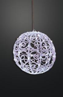 LED-Acryl-Dekokugel 50 BS 30cm weiss