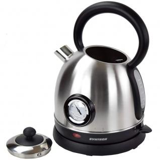 Syntrox 1, 8 Liter Edelstahl schnurlos Wasserkocher mit Thermometer 360° cordess Wasse - Vorschau 4