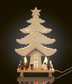 LED-Holz-Stimmungsleuchter Haus im Wald