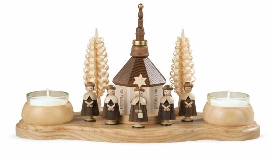 Müller-Kleinkunst aus dem Erzgebirge® seit 1899 Kerzenhalter Seiffener Kirche