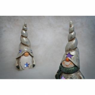 Keramikfigur, 1 RGB-LED, Schneemann