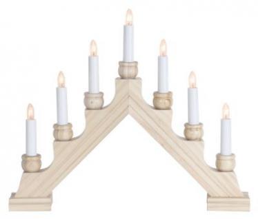 STAR Trading Leuchter Holz Karin (Pyramide) natur 7 BS