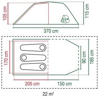 Coleman Cortes 3 Camping-Zelt für 3 Personen - Vorschau 5
