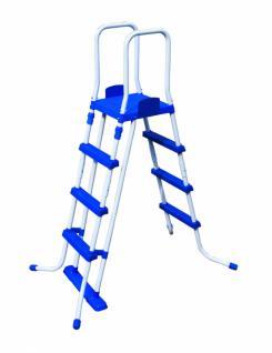 Leiter für Pools bis 122 cm (3 Stufen + Tritt)