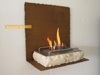 Natursteinfeuer Standkamin Tischfeuerstelle 48x30cm WK-06 Ivory