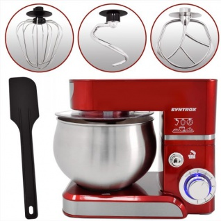 Küchenmaschine Knetmaschine 5, 0 Liter 1000 Watt - rot