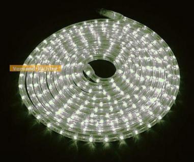 LED Lichtschlauch weiss, versch. Licht-Effekte, inkl. Controler, 10 M