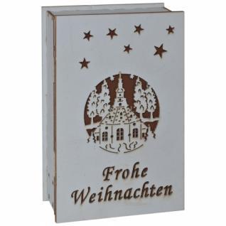 Spieluhr, Engelchor in einem Buch, zum Aufklappen, 1 warmweiße LED, H 150, B 100, T 40 - Vorschau 2