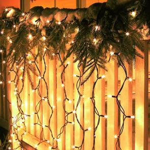 LED-Lichtervorhang, Lichtsystem 1000, 100 warmweiße LEDs