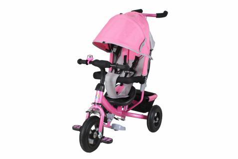 Miweba Kinderdreirad, Kinderbuggy, Kinderwagen, Schieber 5 in 1 ROSA