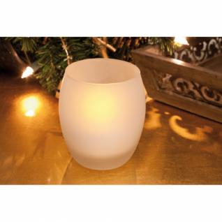 LED-Windlicht, 1 LED-Kerze, Milchglas, LED-Teelicht, 1 LED, batteriebetrieben