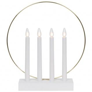 Weihnachtsleuchter GLOSSY RING, 4 x E10/55V/3W,