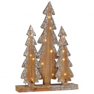Weihnachtsleuchter, 15 warmweiße LEDs, batteriebetrieben