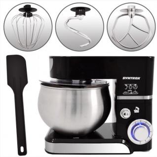 Küchenmaschine Knetmaschine 5, 0 Liter 1000 Watt - schwarz