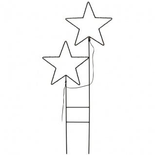 Deko-Stern, 50 ww LEDs, MYSTIC, H 1 Meter