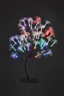 Hellum LED-Baum Fiberoptik 45cm 40 BS RGB/braun innen