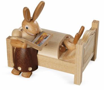Kleinkunst aus dem Erzgebirge® seit 1899 - Hasenmutter erzählt Gute-Nacht-Geschichten