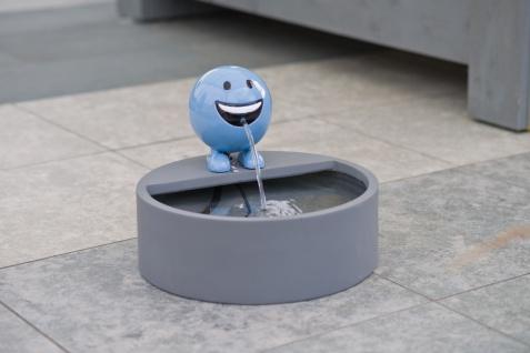 Ubbink Wasserspiel BE HAPPY - Polystone, H19 x Ø16 cm, blau - Vorschau 2
