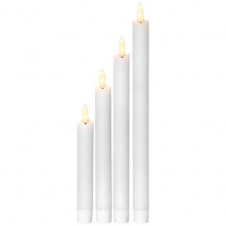 LED-Echtwachskerzen, Tafelkerzen, 4er-Set, je 1 ww