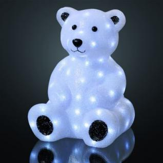 EVA LED-Teddybaer 42cm 85 BS weiss aussen