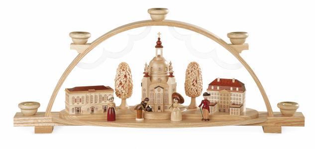 Müller-Kleinkunst aus dem Erzgebirge® seit 1899 Schwibbogen Frauenkirche Dresden