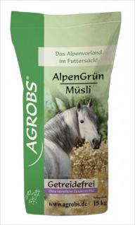 Agrobs Alpengrün Müsli 15 kg, Pferdemüsli getreidefrei