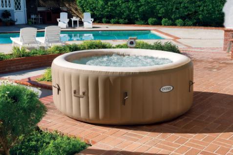 Aufblasbarer Whirlpool Thermo-Sprudelbad Pure SPA 77 Bubble mit Kalkschutzsystem