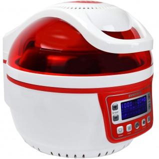 """Syntrox Turbo-Heißluftfritteuse Heißluftgarer Airfryer Küchenmaschine mit LED-Display """" rot"""" - Vorschau 2"""