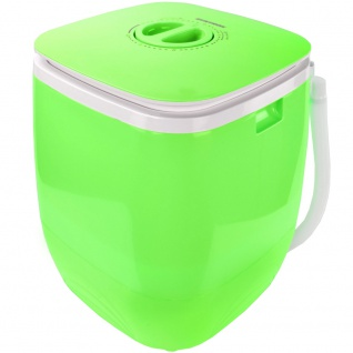 Syntrox 2, 0 Kg Waschmaschine Miniwaschmaschine mit Timer und Schleuder 150 W grün - Vorschau 2