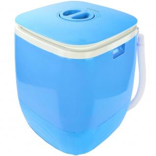 Syntrox 2, 0 Kg Waschmaschine Miniwaschmaschine mit Timer und Schleuder 150 W blau - Vorschau 2