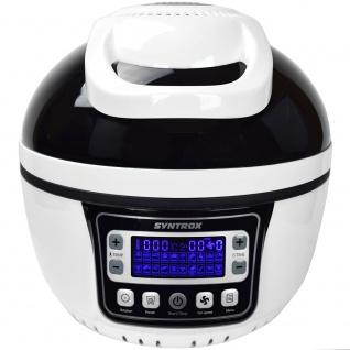Syntrox Turbo-Heißluftfritteuse Heißluftgarer Airfryer Küchenmaschine mit LED-Display 10 Liter Garraum, max. 250° schwarz - Vorschau 3