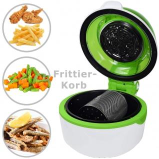 """Syntrox Turbo-Heißluftfritteuse Heißluftgarer Airfryer Küchenmaschine mit LED-Display """" grün"""" - Vorschau 4"""