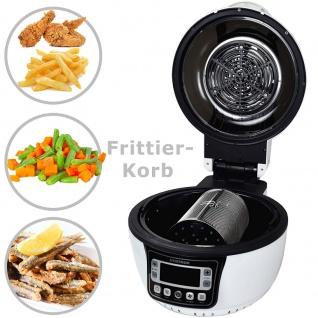 Syntrox Turbo-Heißluftfritteuse Heißluftgarer Airfryer Küchenmaschine mit LED-Display 10 Liter Garraum, max. 250° schwarz - Vorschau 4
