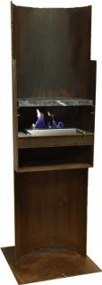 Standkamin Kamin Feuerstelle mit Rostpatina-Designer-Grill WK-21