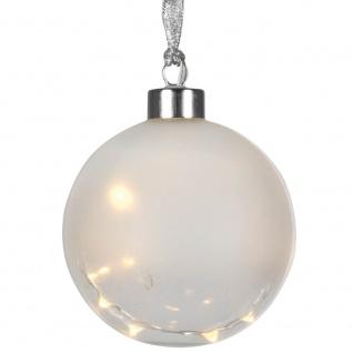 Glaskugel, 15 warmweiße LEDs, GLOW