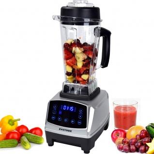 Syntrox Küchenmixer Standmixer Digital 1500 Watt, 40000 U/Min, 2 Liter, 6 Edelstahlkl